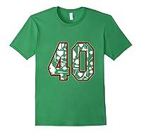 40 Year Old Birthday Baseball Shirts Forest Green