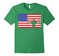 Gymnastics Rings Usa American Flag Gymnast 4th Of July T-shirt Forest Green