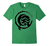 Nickelodeon The Legend Of Korra Bw Water Elet Logo Shirts Forest Green