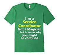 Funny Service Coordinator Job Career Client Occupation Gift Shirts Forest Green