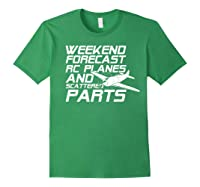 Rc Plane T-shirt For Guys Rc Planes And Scattered Parts Forest Green