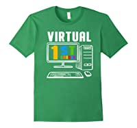Remote Teaching Online Learning Virtual Tea Premium T-shirt Forest Green