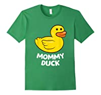 Funny Mommy Duck Rubber Duck T-shirt Forest Green
