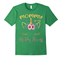 Mommy Of The Birthday Princess Matching Family Unicorn Gift T-shirt Forest Green