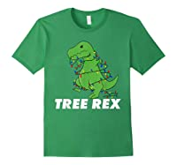 Tree Rex Christmas T Rex Dinosaur Christmas Gift Shirts Forest Green