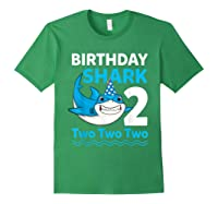 Birthday Shark 2017 2 Years Old Gift For Boy Girl Shirts Forest Green