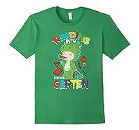 Roaring Into Kindergarten Dinosaur Shirt First Day School Premium T-shirt Forest Green
