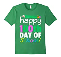 100th Day Of School Grade Tea Shirts Forest Green