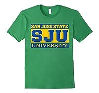 San Jose State 1887 University Apparel Shirts Forest Green
