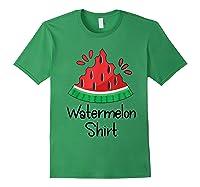 Watermelon Shirt - Cute Fun Of Summer Watermelon T-shirt Forest Green