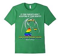 Free Mom Hugs Bear Rainbow Lgbt Pride T-shirt Gift Forest Green