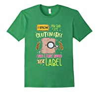 Funny Gluten Free Lifestyle Celiac Disease Awareness Gift Shirts Forest Green