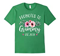 Promoted To Grammy Est 2019 Baby Announce Shirts Forest Green