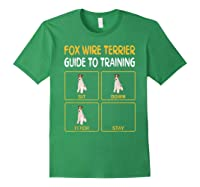 Wire Fox Terrier Guide To Training Dog Obedience T-shirt Forest Green