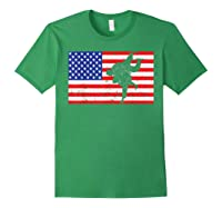 Distressed Judo Gi Usa American Flag Vintage Martial Arts T-shirt Forest Green
