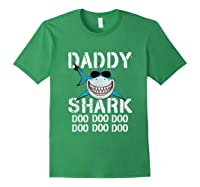 Daddy Shark Doo Doo Family Matching Shirts Forest Green