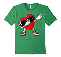 Dabbing Heart Valentines Day Love Dab Dance Gifts T-shirt Forest Green