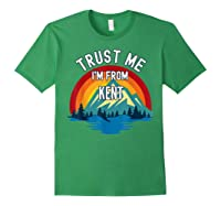 Trust Me I\\\'m From Kent Colorful Mountain Vintage Style T-shirt Forest Green