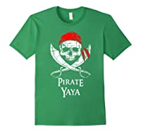 Pirate Yaya Skull And Crossbones Flag T-shirt Forest Green