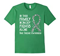 In This Family Nobody Fights Alone Rare Disease T-shirt Forest Green