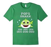 Pops Shark Doo Doo Doo Matching Family Shark Shirts Forest Green