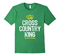 Cross Country King Running Runner Funny Cool Gift T-shirt Forest Green