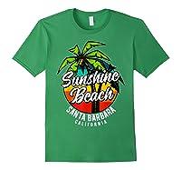 California Hawaii Surf Surfing Board Beach Vintage Retro Shirts Forest Green