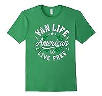Van Dweller Clothing & Van Life Apparel - Van Life Premium T-shirt Forest Green