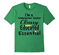 I Am A Kindergarten Tea - Classy Educated Essential T-shirt Forest Green