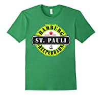 Hamburg St Pauli Reeperbahn Red Light Party Out Shirts Forest Green
