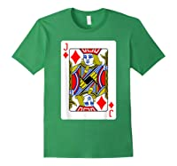 Jack Of Diamonds Playing Card Group Costume Poker Player T-shirt Forest Green