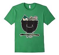 Ra Bowl Noodles Chopsticks Seaweed Soup Char Siu Pork T-shirt Forest Green