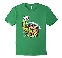 Boo Ghost Dinosaur Cute Brontosaurus Funny Halloween Gift Premium T-shirt Forest Green