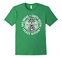 Sky Above Earth Below Peace Within Goat Yoga Cute Funny Premium T-shirt Forest Green