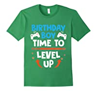 Birthday Boy Time To Level Up Video Game Gamers Gift T-shirt Forest Green