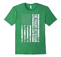 American Flag Vietnam Veteran T-shirt Forest Green