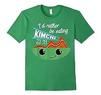 Kimchi Cute Korean Ferted Food Shirts Forest Green