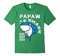 Papaw Shark Halloween Christmas Gift Shirts Forest Green