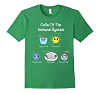 Immune System Cells Biology Cell Science Humor Immunologist Shirts Forest Green