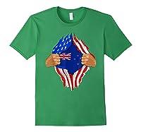 New Zealand Blood Inside Me T-shirt   New Zealand Flag Gift Forest Green