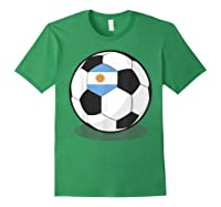 Argentinian Flag On Soccer Ball   Argentina Football Shirts Forest Green