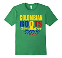 Storecastle Colombian Roots Colombia Flag Pride Shirts Forest Green