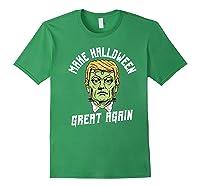 Make Halloween Great Again Funny Orangetrump Halloween Shirts Forest Green