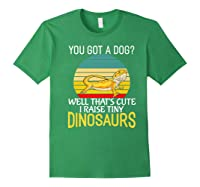 You Got A Dog? I Raise Tiny Dinosaurs Funny Bearded Dragon Premium T-shirt Forest Green
