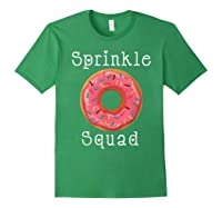 Donut Sprinkle Squad For And Girls Matching Group T-shirt Forest Green