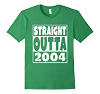 Straight Outta 2004 14th Birthday For A 14 Year Old Shirts Forest Green