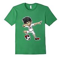 Dabbing Soccer Boy South Korea, Korean Flag Shirts Forest Green