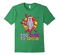 Cute Ghost Girls Costume Spooky Halloween T-shirt Forest Green