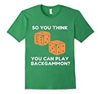 Best Ever Funny Backgammon Player Tee Board Game T Shirt Forest Green