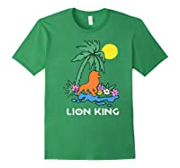 The Lion King Simba Spring Palm Tree Shirts Forest Green